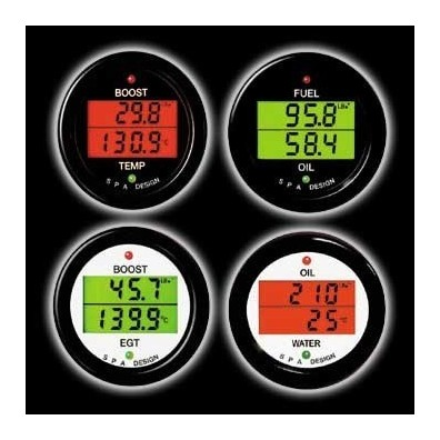 Manomètre double SPA pression d'huile/voltage