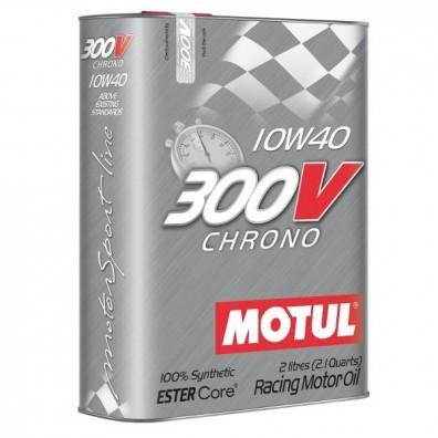 Huile moteur MOTUL 300V CHRONO 10W40 - Bidon de 2L
