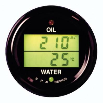Manomètre double SPA pression d'huile/température eau
