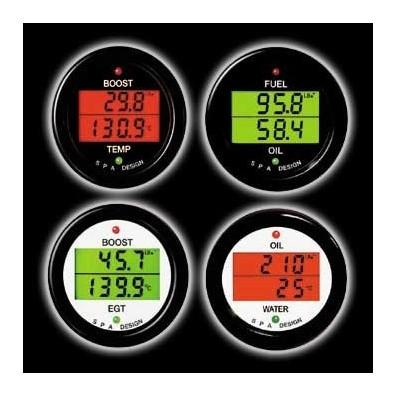 Manomètre double SPA pression d'essence/température d'eau