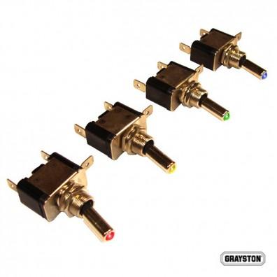 Interrupteurs 25 Ampères ON/OFF avec Led couleur