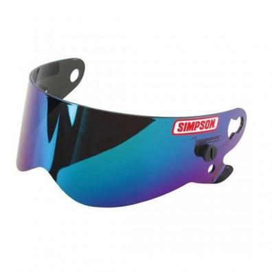 Visière Simpson anti-buée iridium bleu pour casque BANDIT