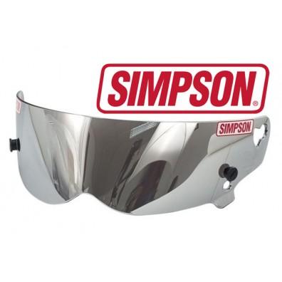 Visière Simpson anti-buée iridium argent pour casque BANDIT