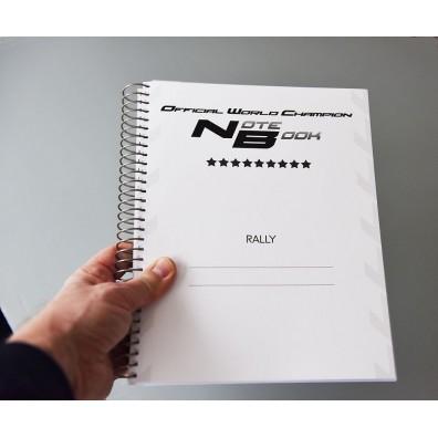 Cahier de notes pour le rallye Note Book