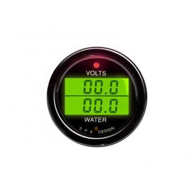 Manomètre double SPA Voltage/température d'eau