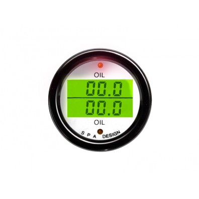 Manomètre double SPA pression d'huile/température