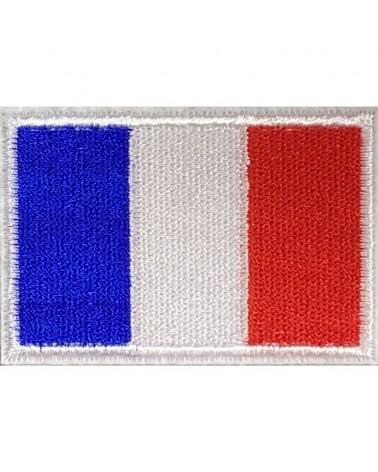 Drapeau français + nom brodé  sur la ceinture de la combinaison