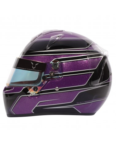 casque karting Bell KC7 Lewis Hamilton violet/noir