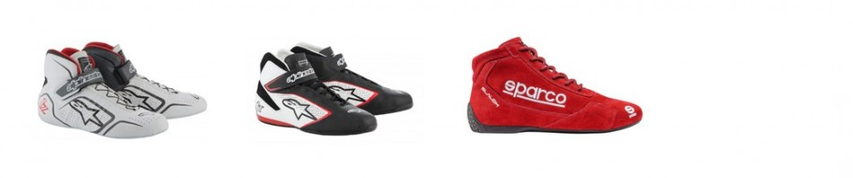 Bottines auto et bottines rallye : Alpinestar, Sparco, Adidas